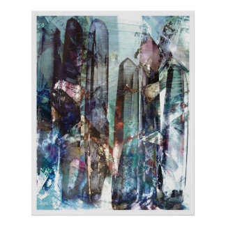 Crystalline Abstract 2 Poster