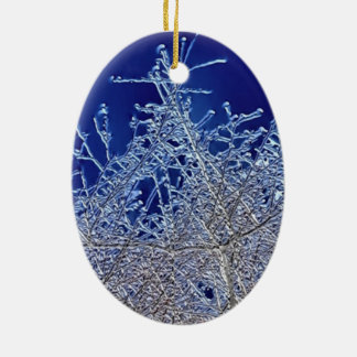 Crystalline Branches Oval Ceramic Decoration Ceramic Ornament