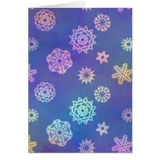 crystalline delight ~ snowflakes card