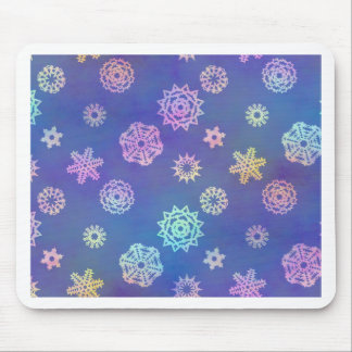 crystalline delight ~ snowflakes mousepad