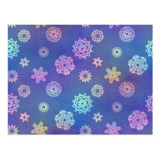 crystalline delight ~ snowflakes postcard