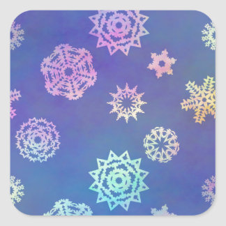 crystalline delight ~ snowflakes square sticker