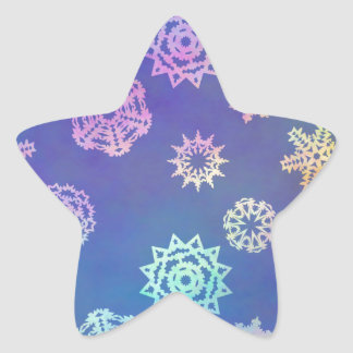 crystalline delight ~ snowflakes star sticker