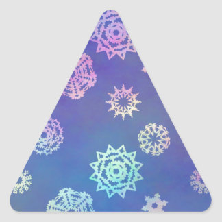 crystalline delight ~ snowflakes triangle sticker