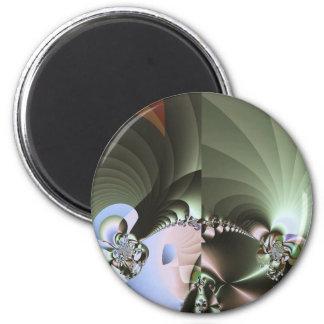 Crystallization Mars 2 Inch Round Magnet