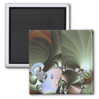 Crystallization Mars 2 Inch Square Magnet