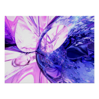 Crystallized Abstract Poster