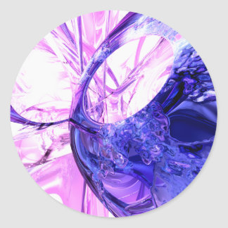 Crystallized Abstract Sticker