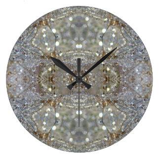 Crystallized Dandelions Large Clock