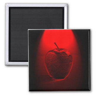 Crystallized Red Apple 2 Inch Square Magnet