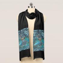 Crystallized Winter Fashion Owl Scarf