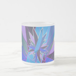 crystals 10 oz frosted glass coffee mug