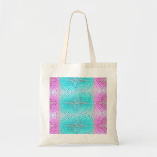 Crystals abstract art in pinks and blue green budget tote bag