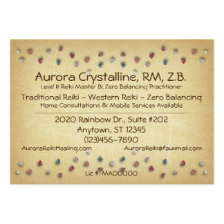 Crystals and Stones Business Cards