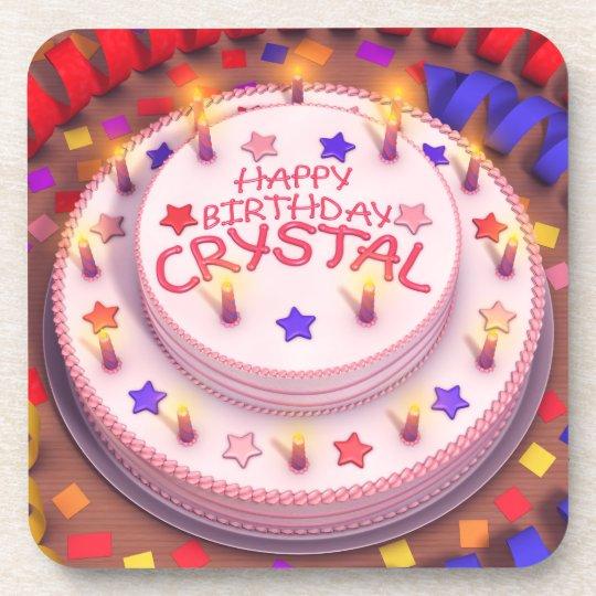 Crystal's Birthday Cake Beverage Coaster