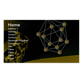 Crystals fresh and aged Orbit Double-Sided Standard Business Cards (Pack Of 100)