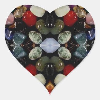 Crystals Heart Sticker
