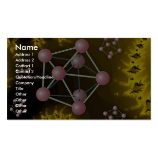 Crystals in sun's orbit photo Double-Sided standard business cards (Pack of 100)