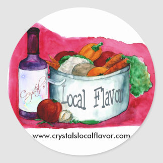 Crystal's Local Flavor stickers