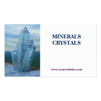 crystals minerals shop Double-Sided standard business cards (Pack of 100)