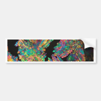 Crystals of Diclofenac under the microscope. Car Bumper Sticker