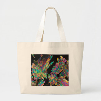 Crystals of Diclofenac under the microscope. Large Tote Bag