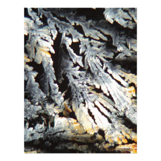 Crystals of Diclofenac under the microscope. Letterhead
