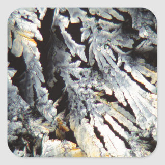 Crystals of Diclofenac under the microscope. Square Sticker