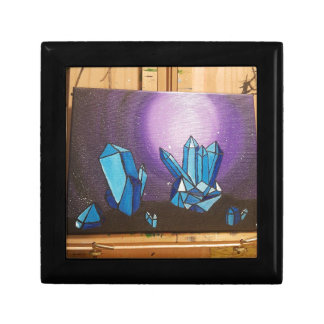 crystals on the walll in 3d keepsake box