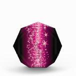 Crystals Pink Stars Acrylic Award