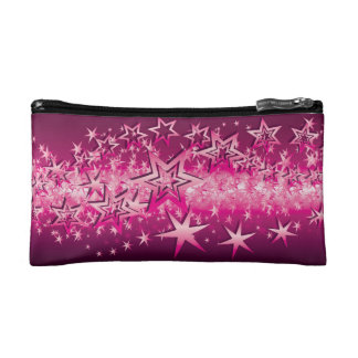 Crystals Pink Stars Cosmetics Bags