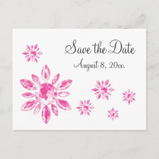 Crystal's Save the Date Postcard postcard