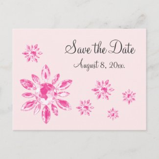 Crystal's Save the Date Postcard (pink) postcard