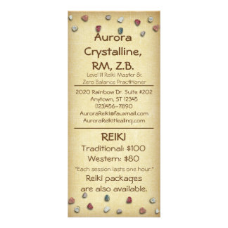 Crystals & Stones Menu Cards