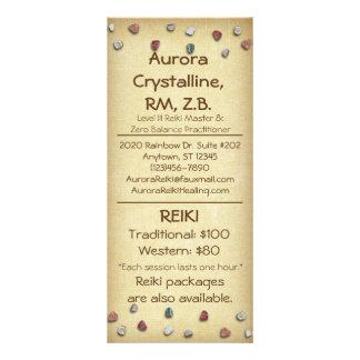 Crystals & Stones Menu Cards