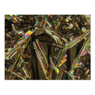 Crystals under the microscope/Aluminate Postcard