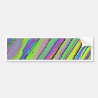 Crystals under the microscope/Zinc acetate Bumper Sticker