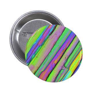 Crystals under the microscope Zinc acetate Pinback Buttons