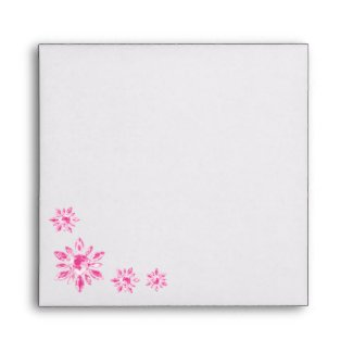 Crystal's Wedding Invitation Envelope (pink) envelope