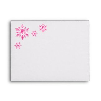 Crystal's Wedding Thank You Card Envelope pink envelope
