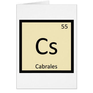 Cs - Cabrales Cheese Chemistry Periodic Table Card
