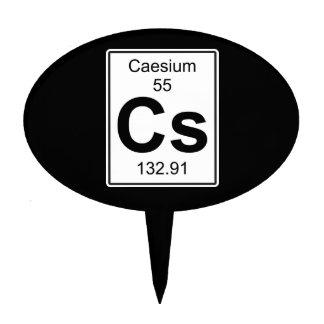 Cs - Caesium Cake Topper