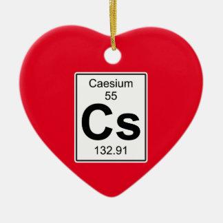 Cs - Caesium Ceramic Ornament