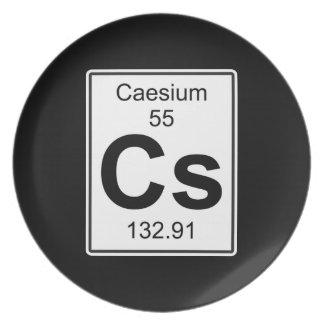 Cs - Caesium Melamine Plate