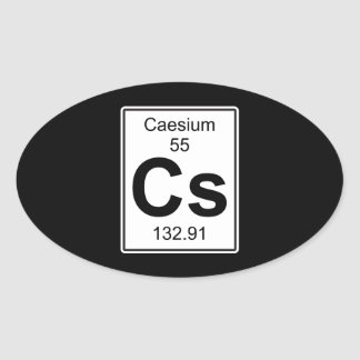 Cs - Caesium Oval Sticker
