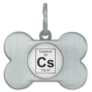 Cs - Caesium Pet Tag