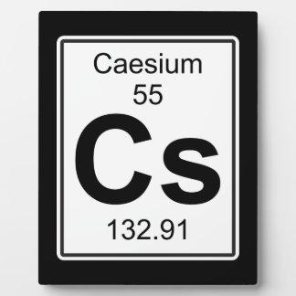 Cs - Caesium Plaque