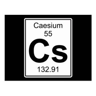 Cs - Caesium Postcard