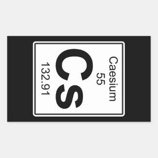 Cs - Caesium Rectangular Sticker