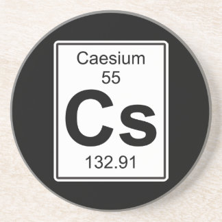 Cs - Caesium Sandstone Coaster